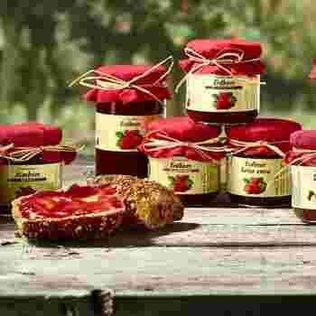 Unterschiedliche Marmeladen, Gelees & Fruch